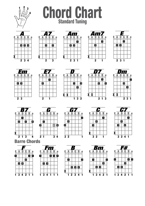 guitar chords chart new