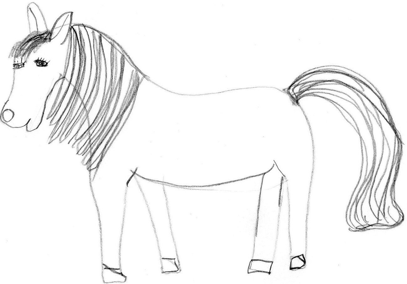 horse pictures for kids draw