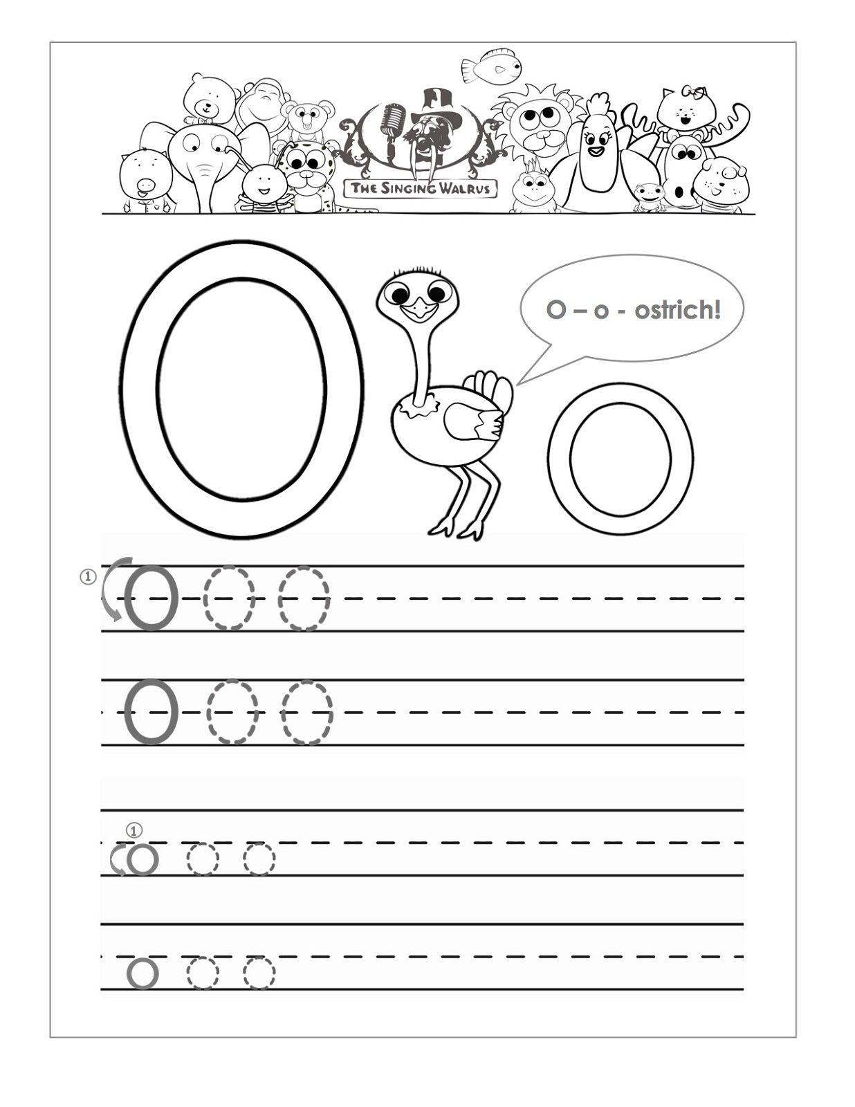 letter o worksheet 2016