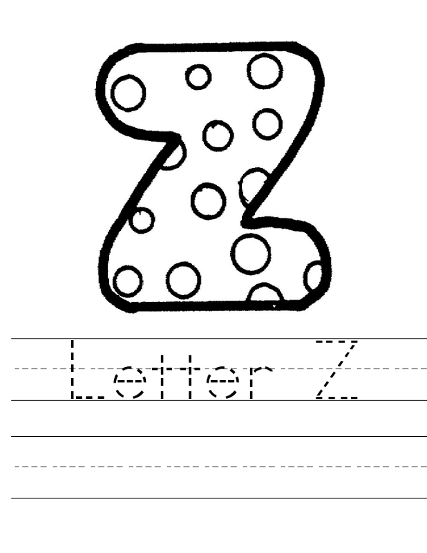 letter z worksheet new
