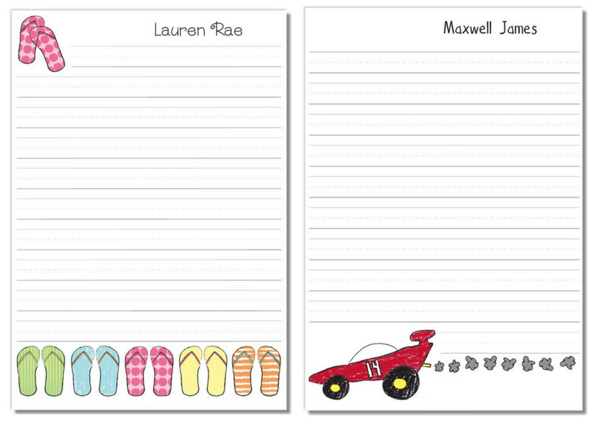 lined paper for kids funny