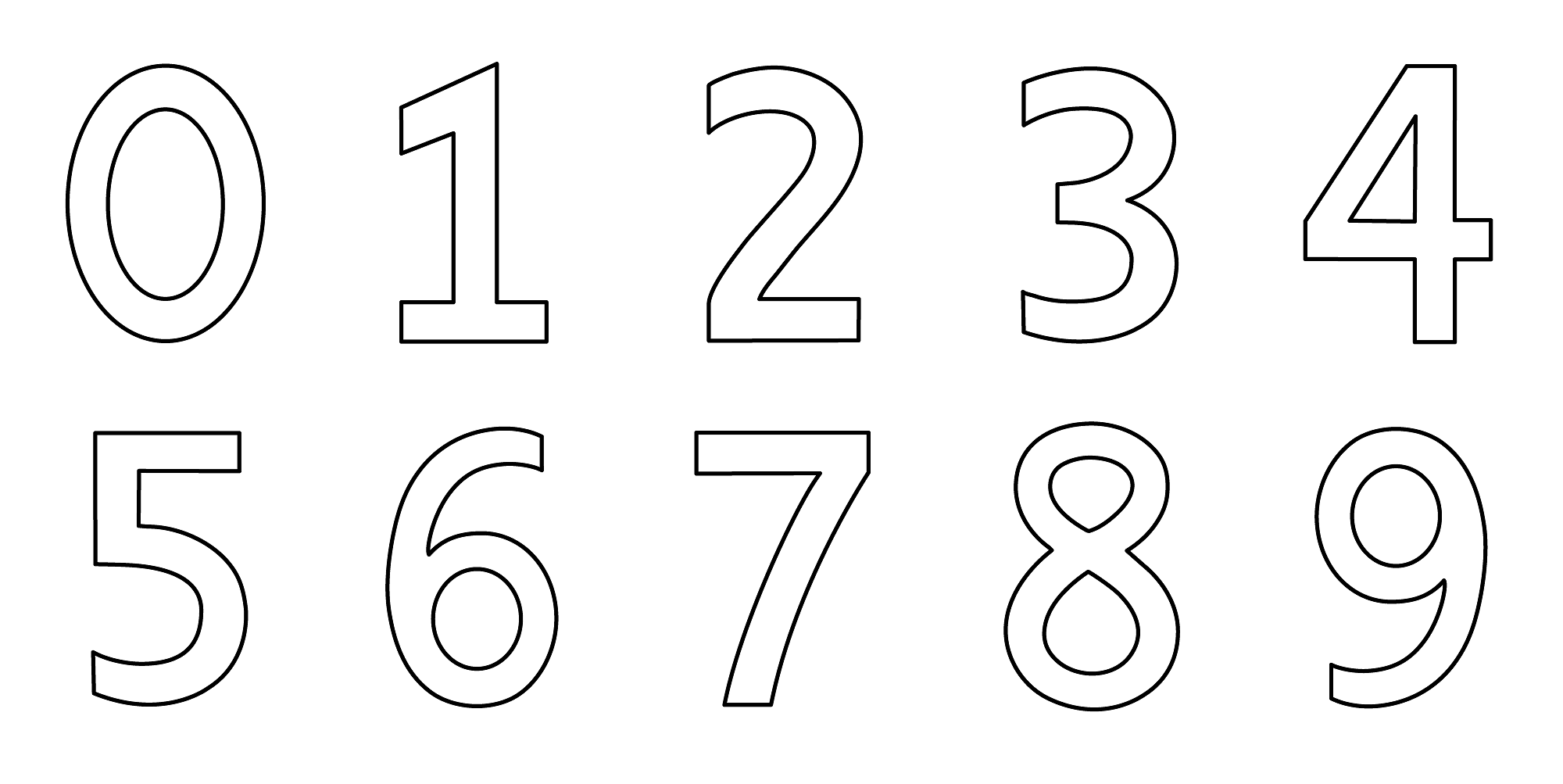 Number Color Pages for Kids Activity
