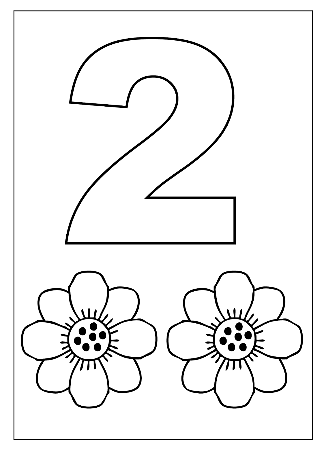 number color pages two