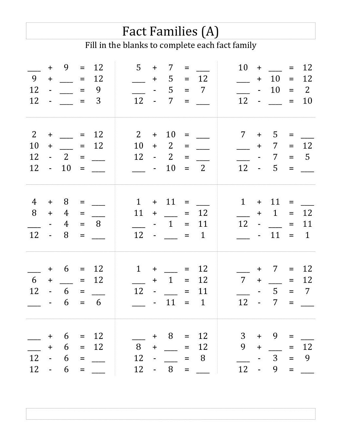 number family worksheets 2016