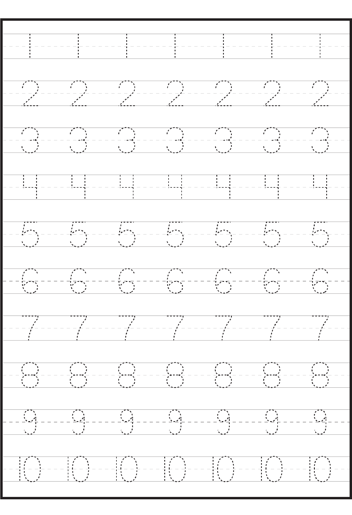 number worksheets for practice