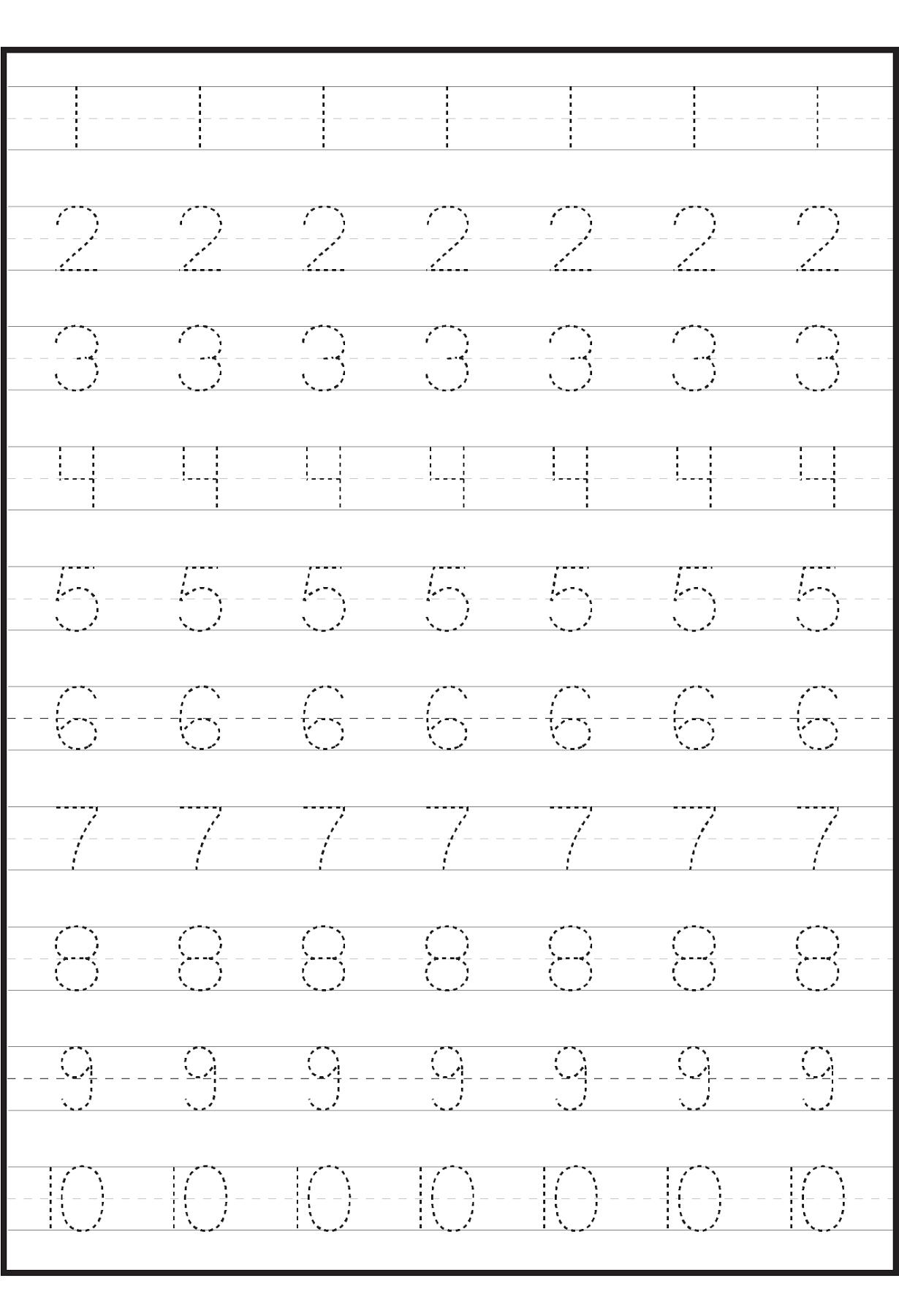 number worksheets for practice