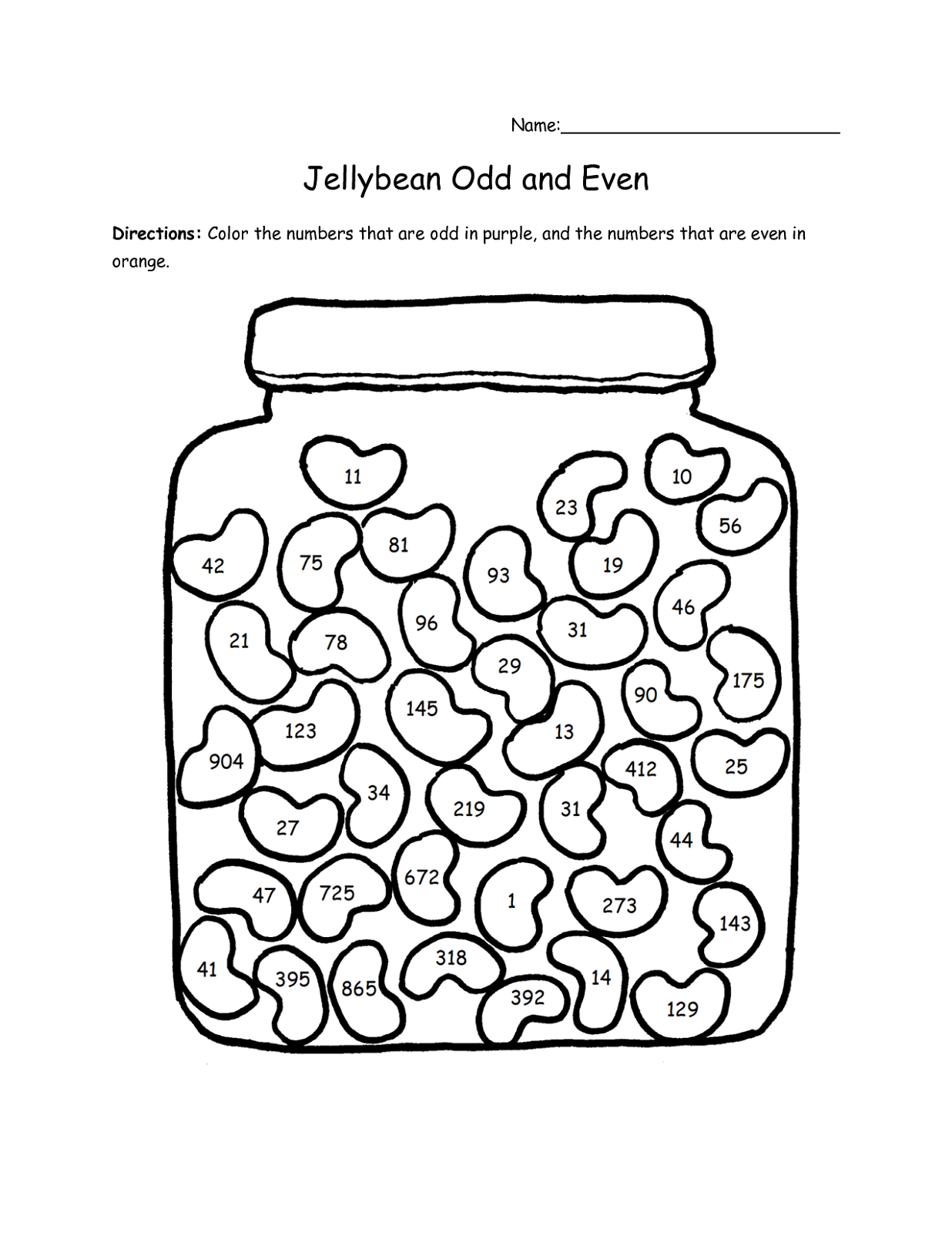 Odd and even worksheets for kids activity shelter for Worksheet coloring pages