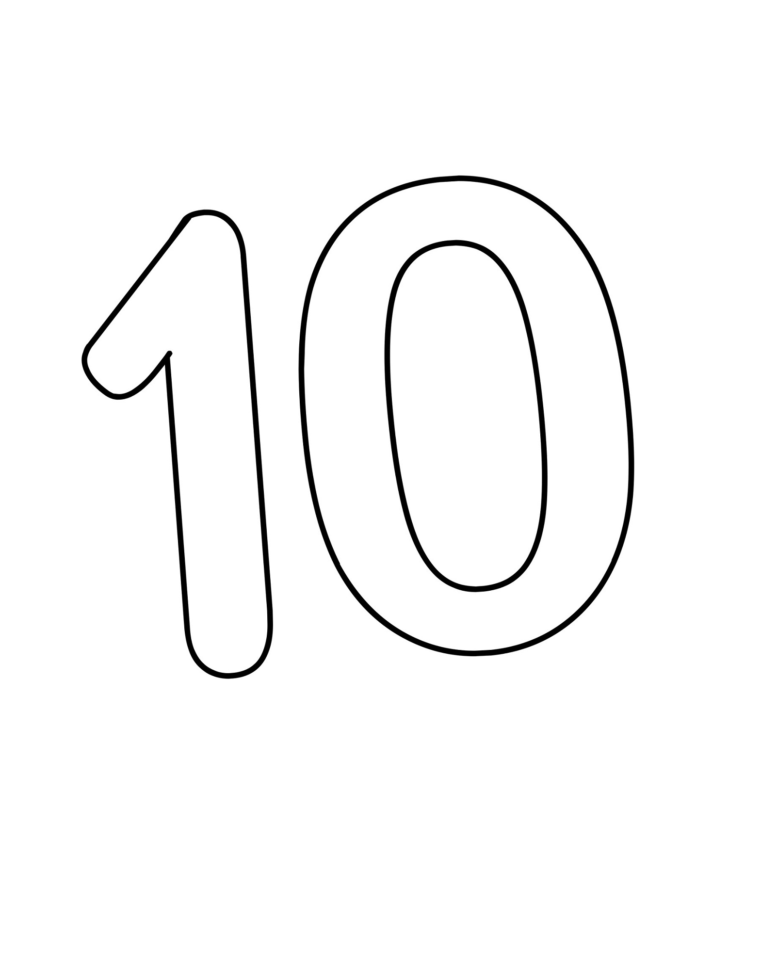 Number 10 coloring page crayolacom sketch coloring page for Ten coloring page
