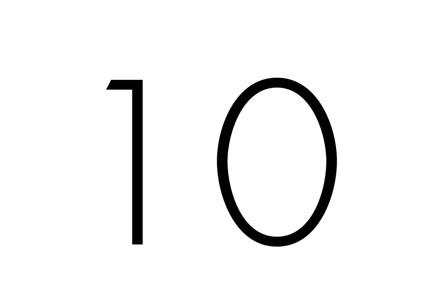 picture of number 10 simple