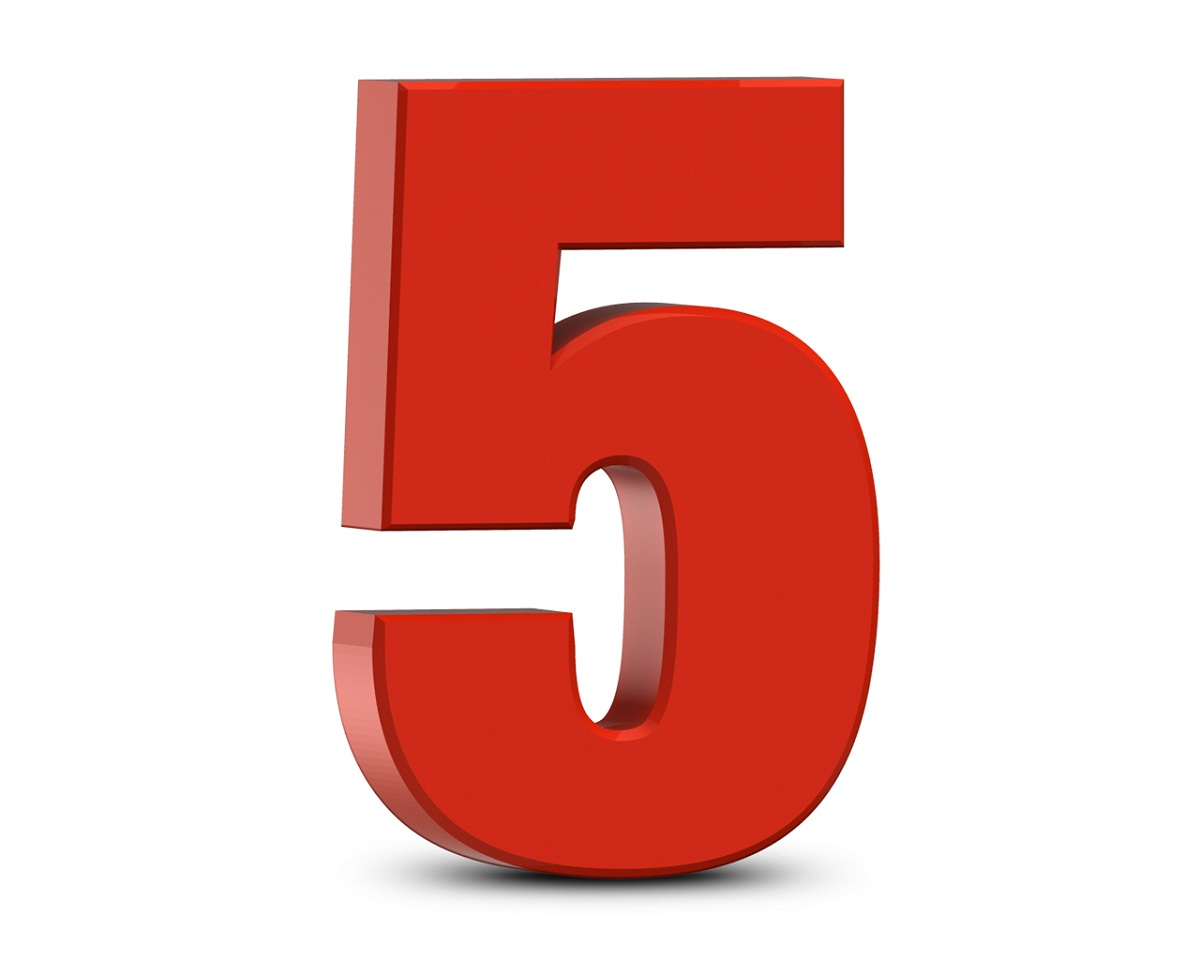 picture of numbers five
