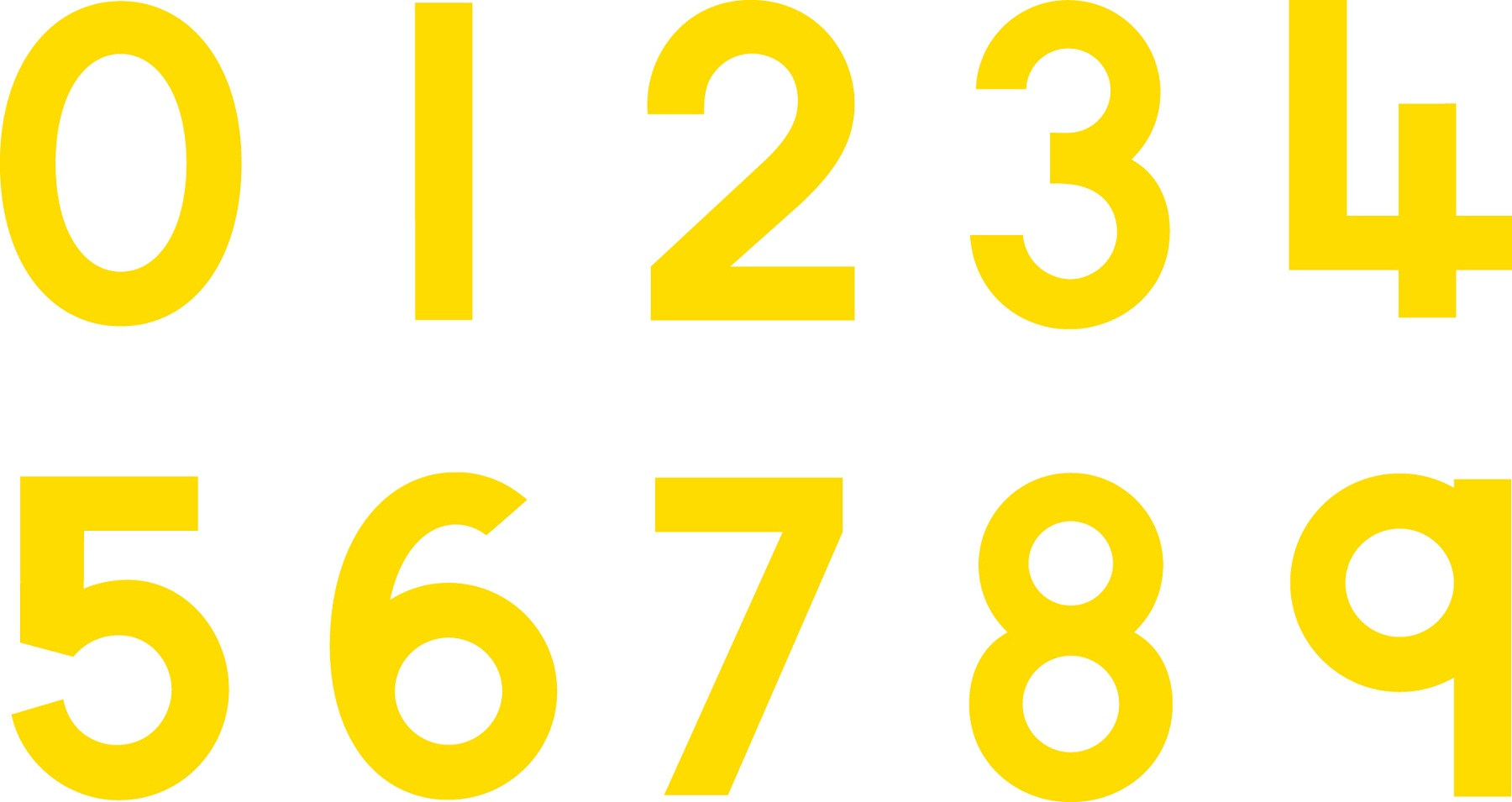 picture of numbers for school