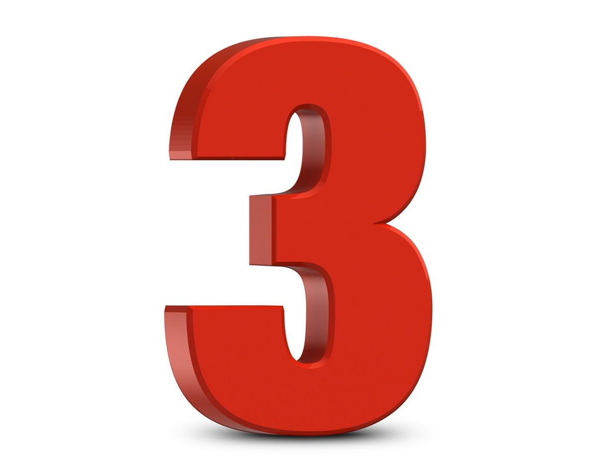picture of numbers three