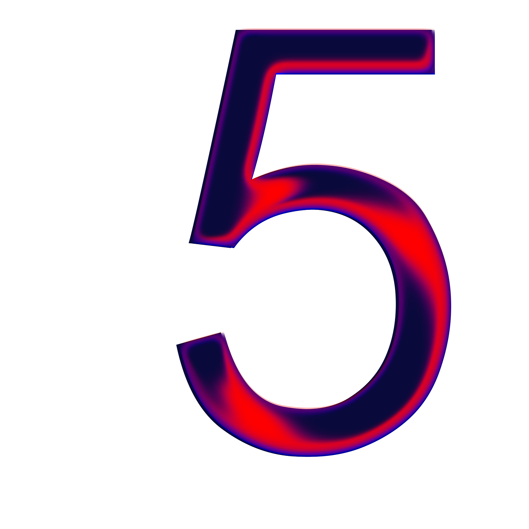 picture of the number 5 colour