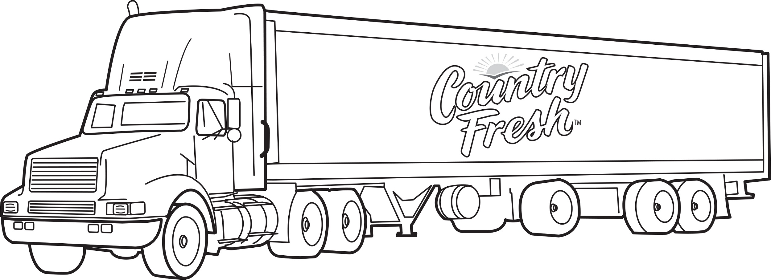 Pictures of big trucks for kids activity shelter for Free truck coloring pages