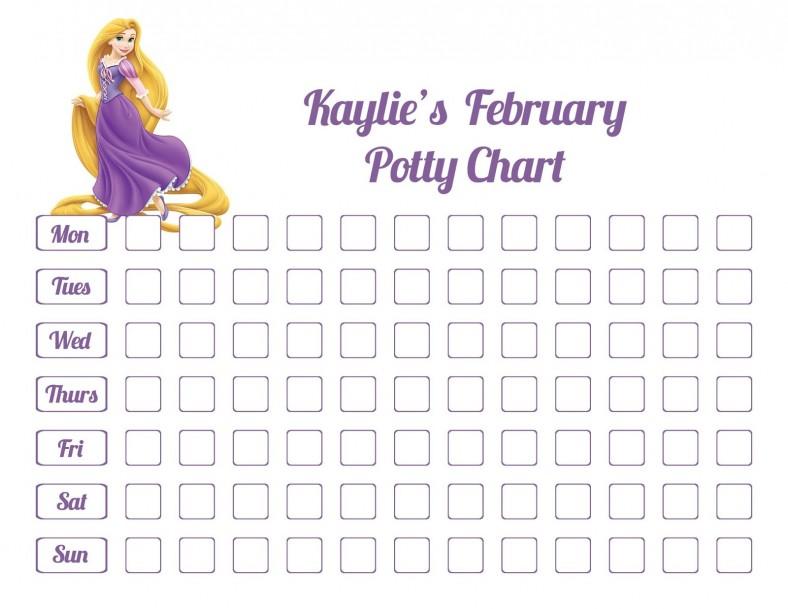 potty chart princess