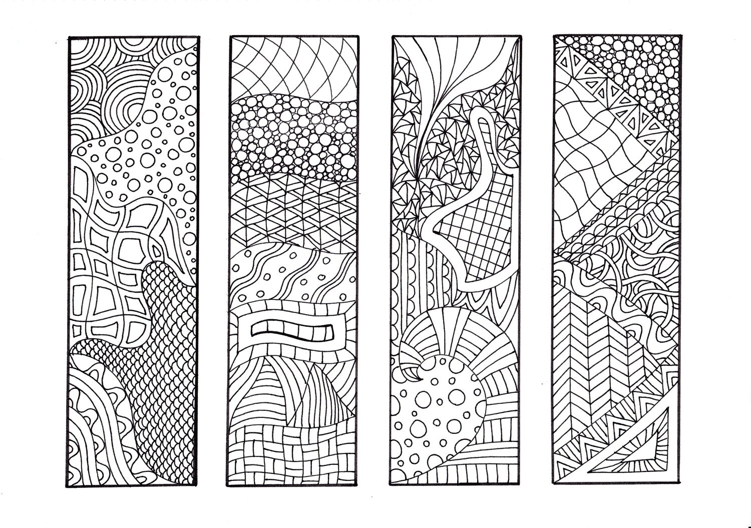 Printable Bookmarks Black  Christmas Bookmark Templates