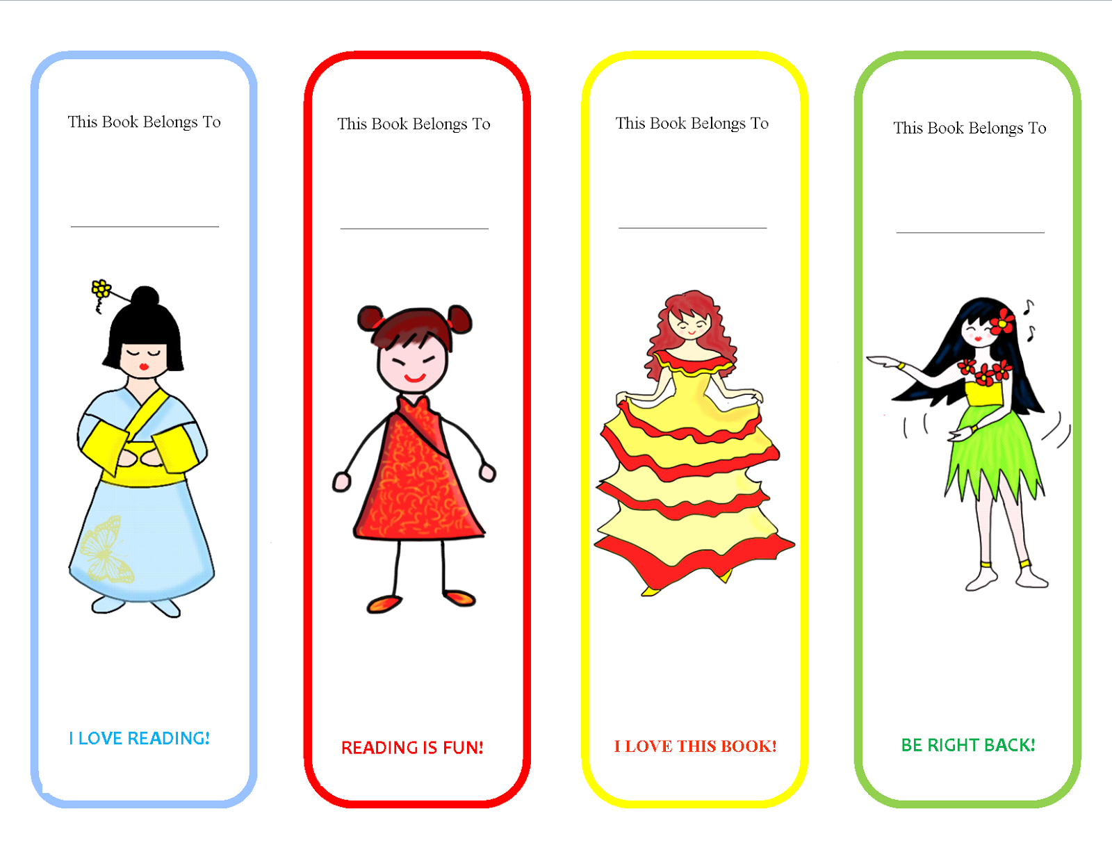 printable bookmarks funny