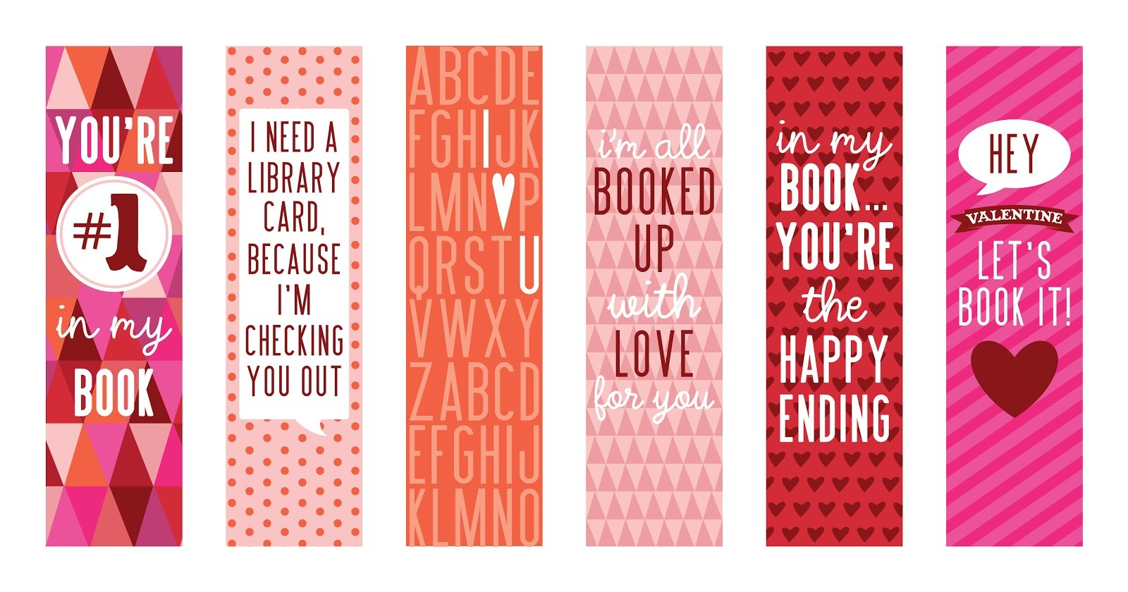 printable bookmarks pink