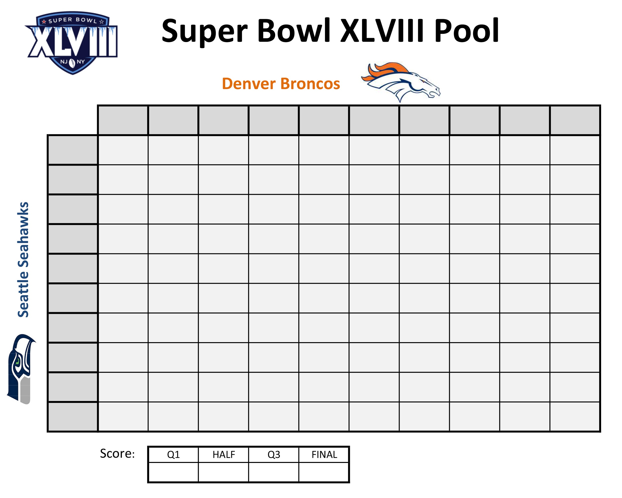 printable super bowl block pool template - printable football squares activity shelter