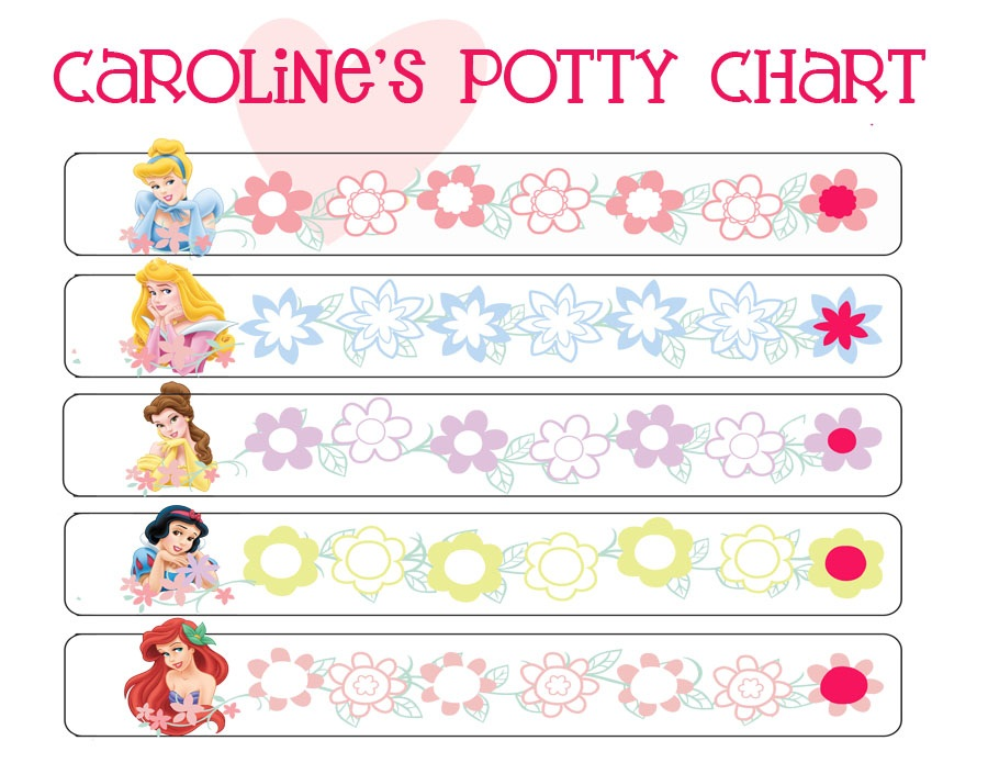 printable potty chart princess