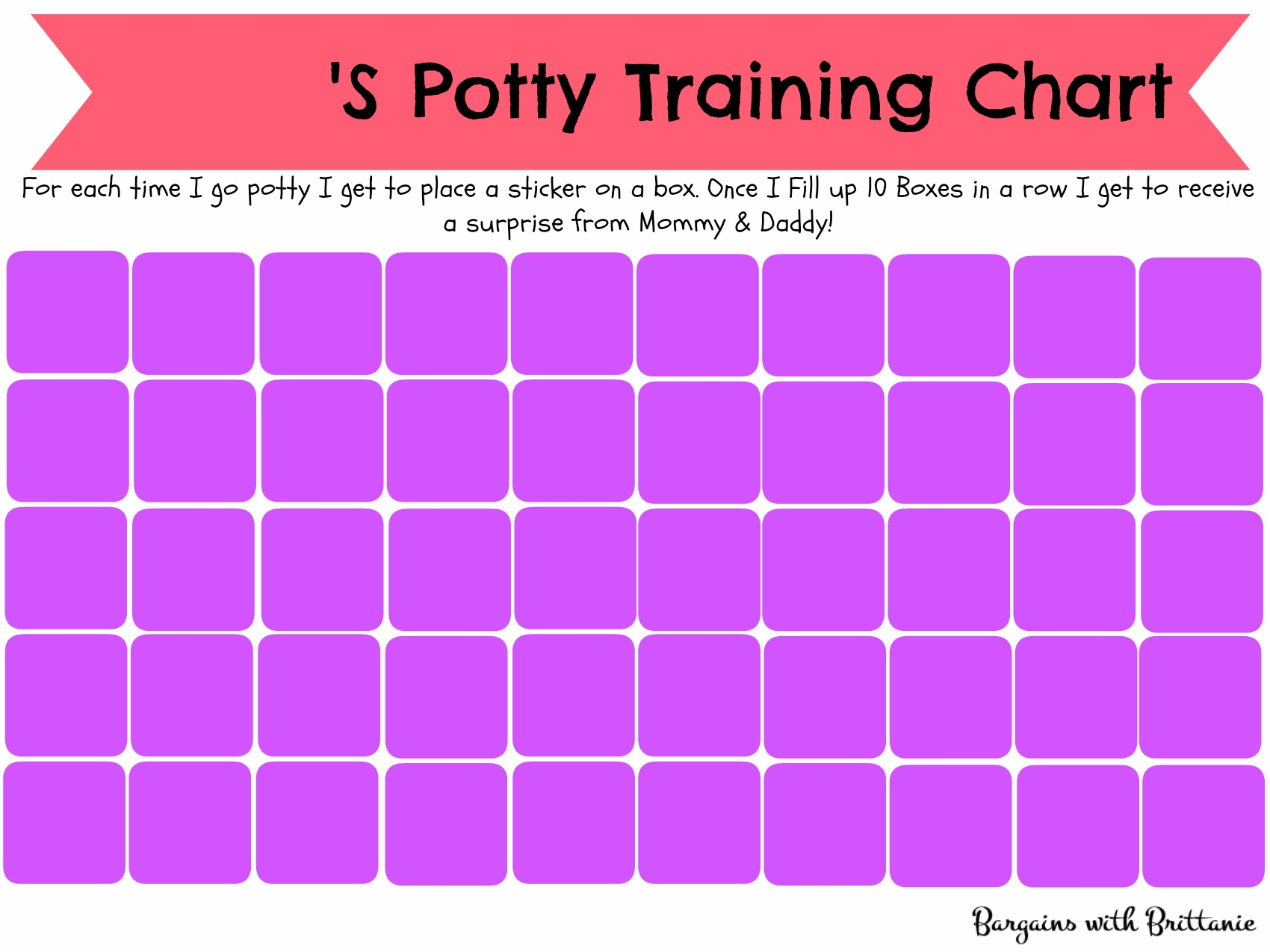 printable potty chart purple