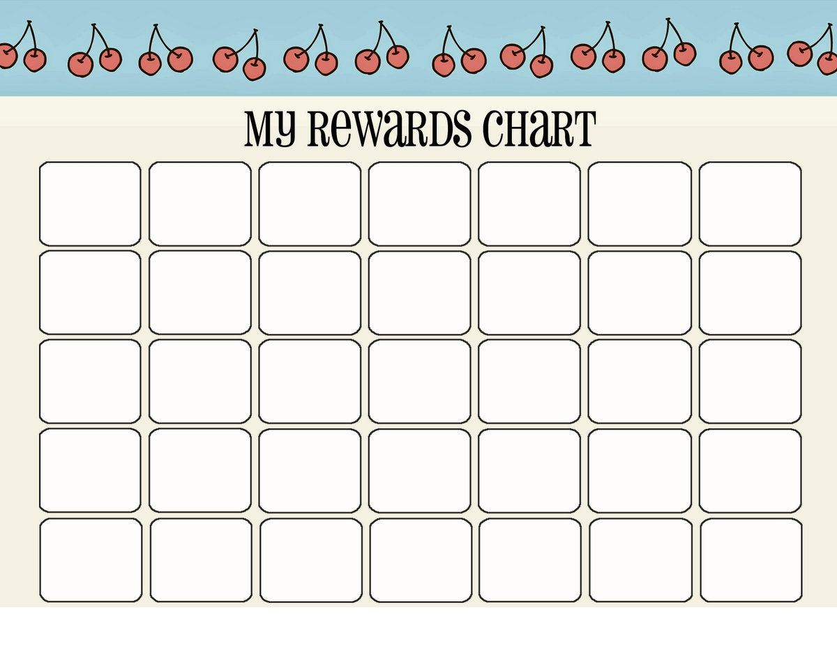 printable reward chart new