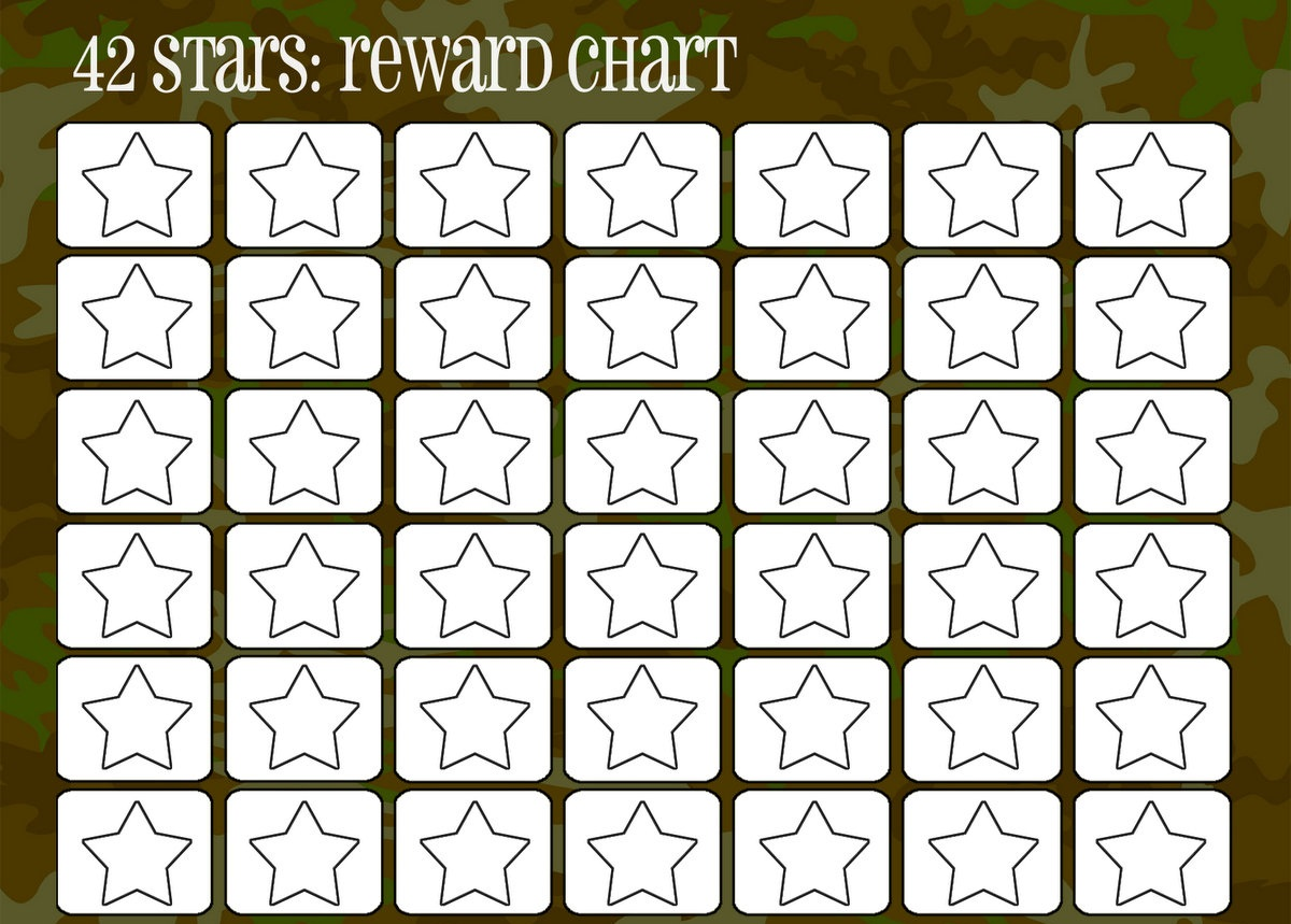 printable reward chart stars
