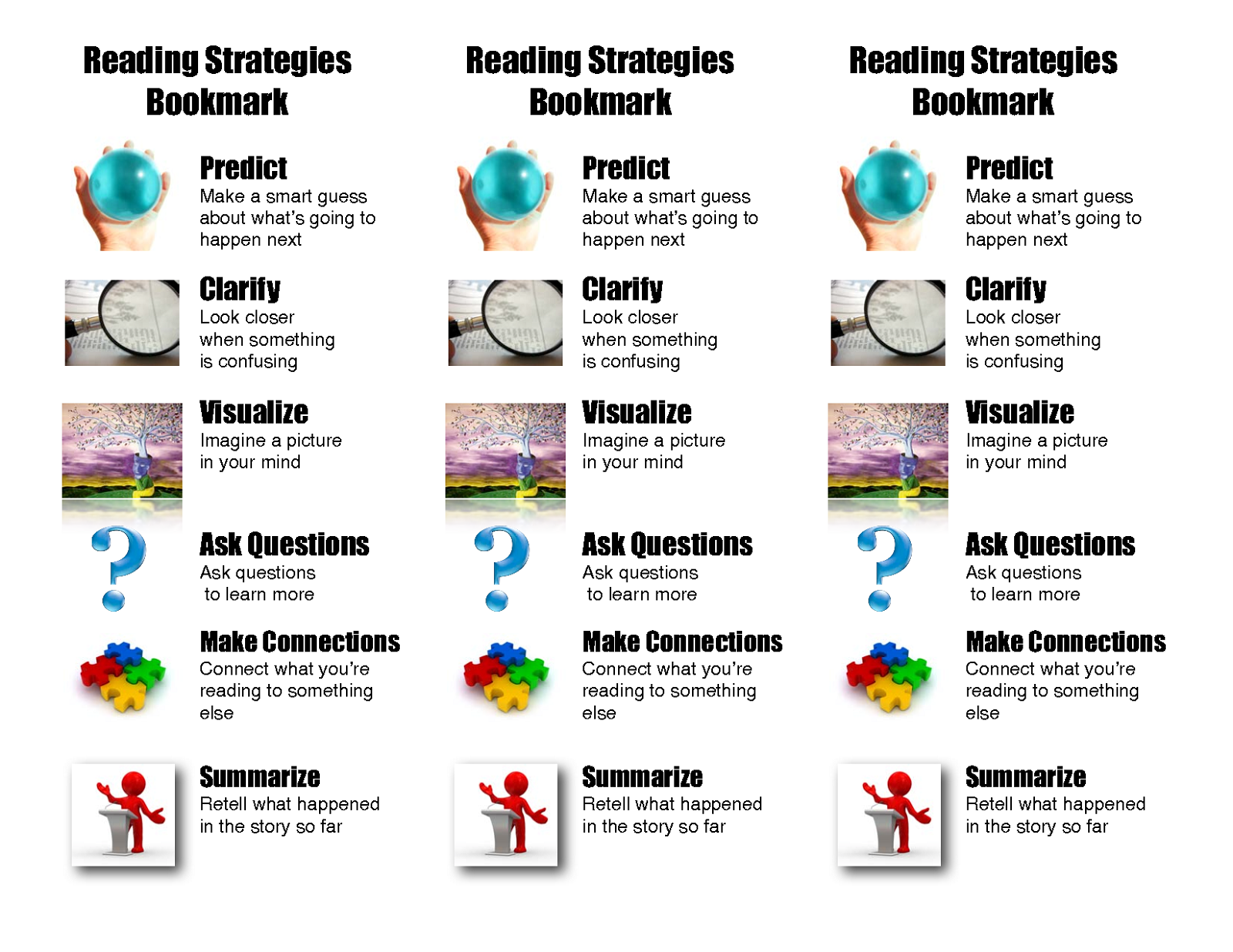 reading strategies free