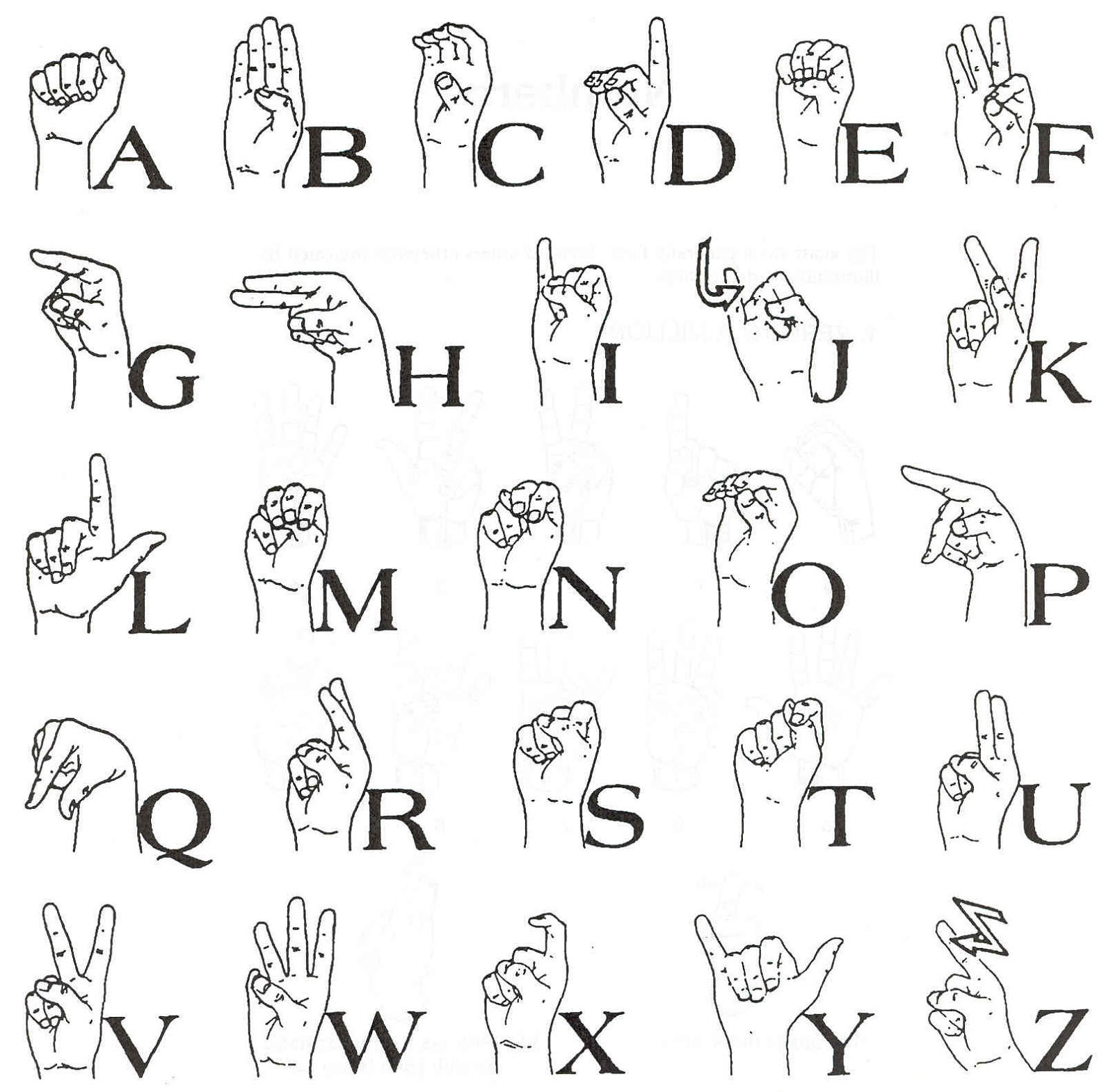 graphic about Asl Printable referred to as Signal Language Illustrations or photos Printable Recreation Shelter