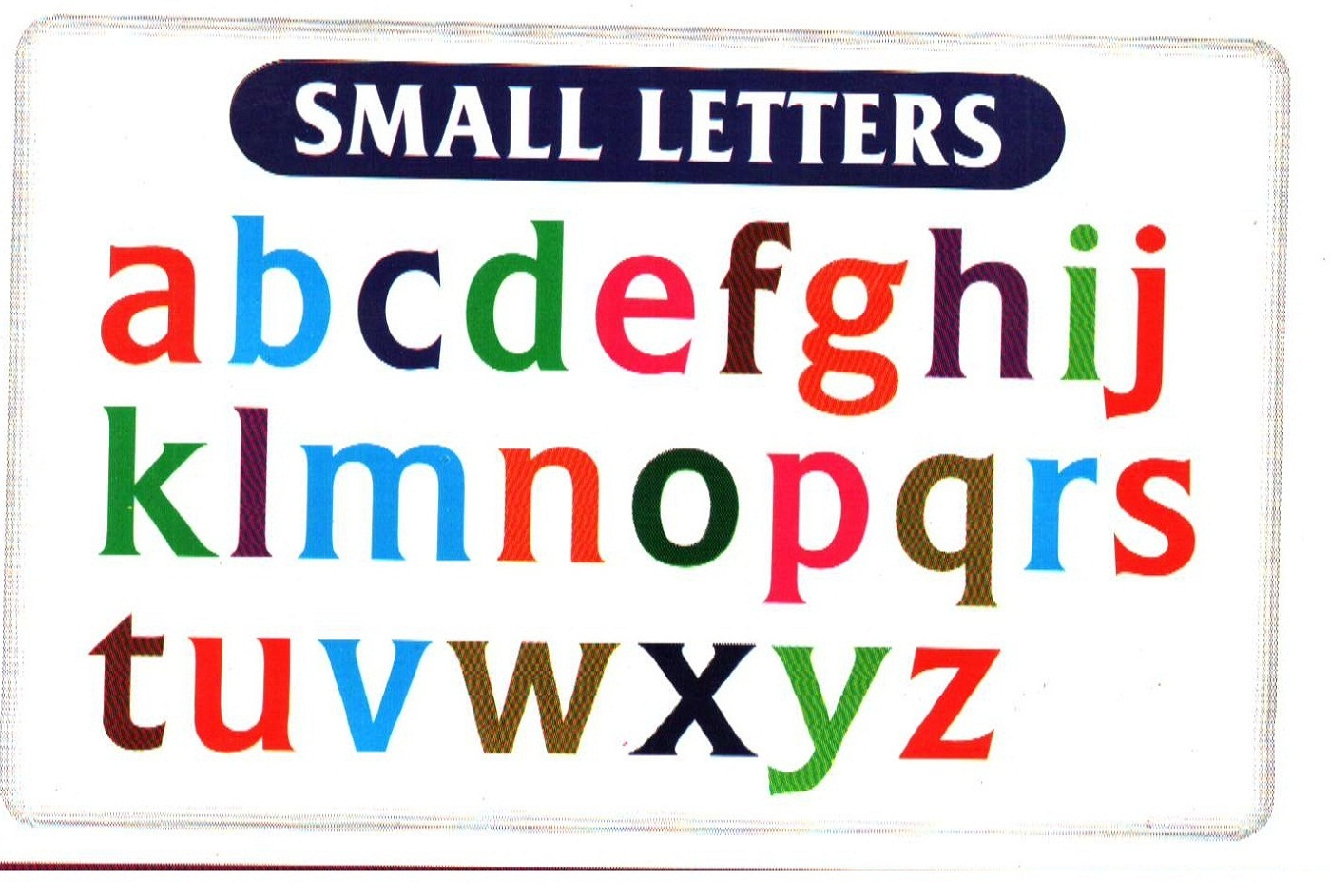 small alphabet letters for kids