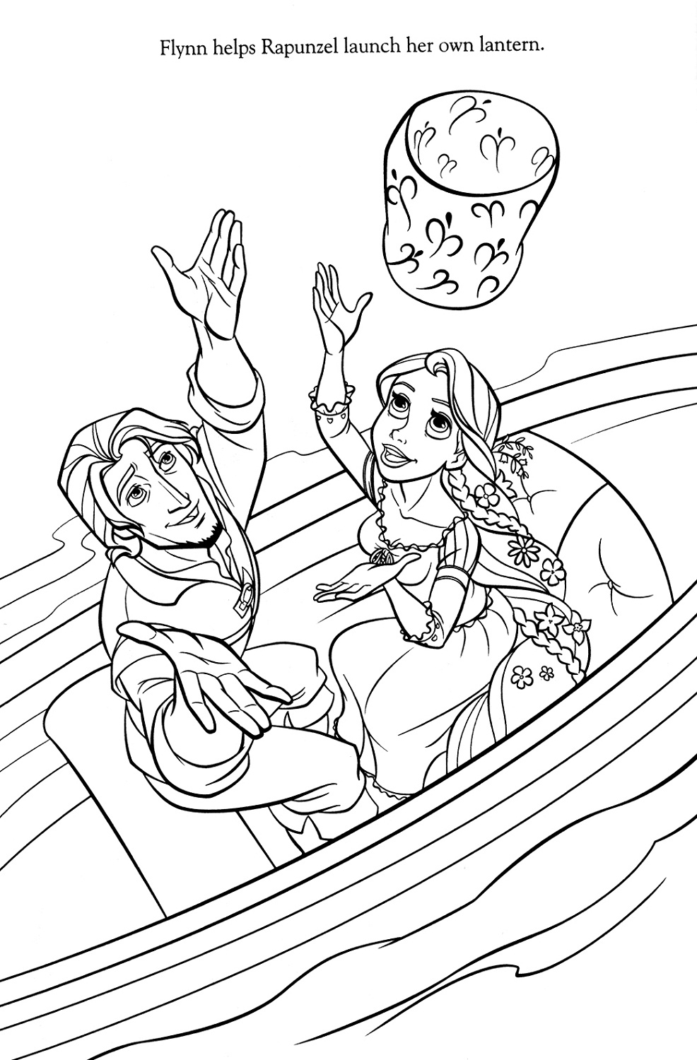 tangled printables cartoon - Tangled Coloring Pages Printable