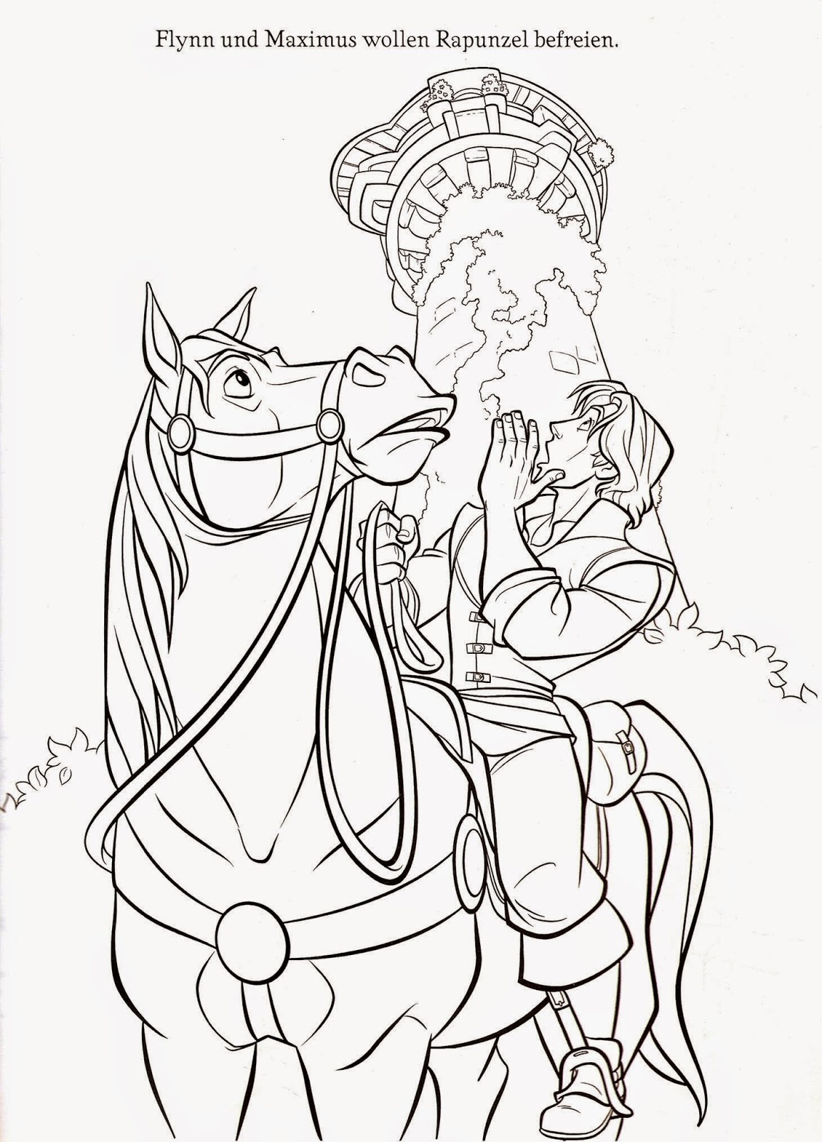 Tangled Coloring Pages Printable | Activity Shelter
