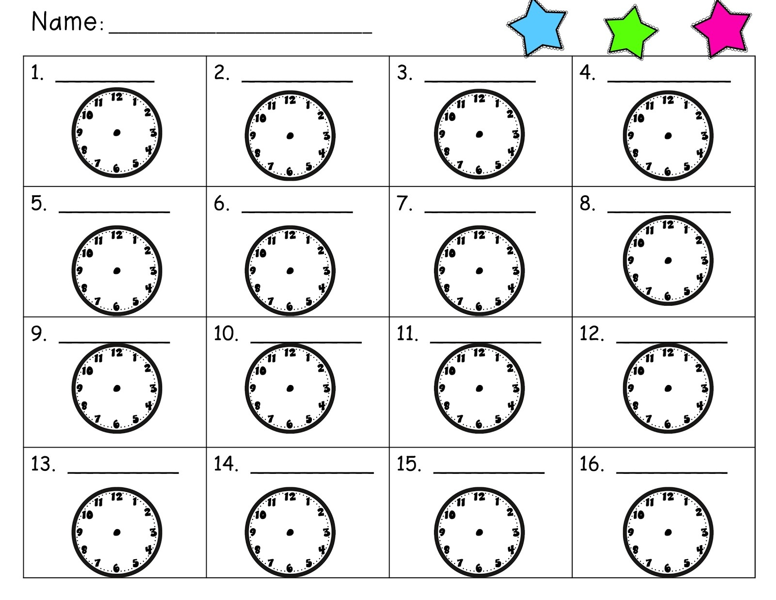 learning how to teach the time activity sheet