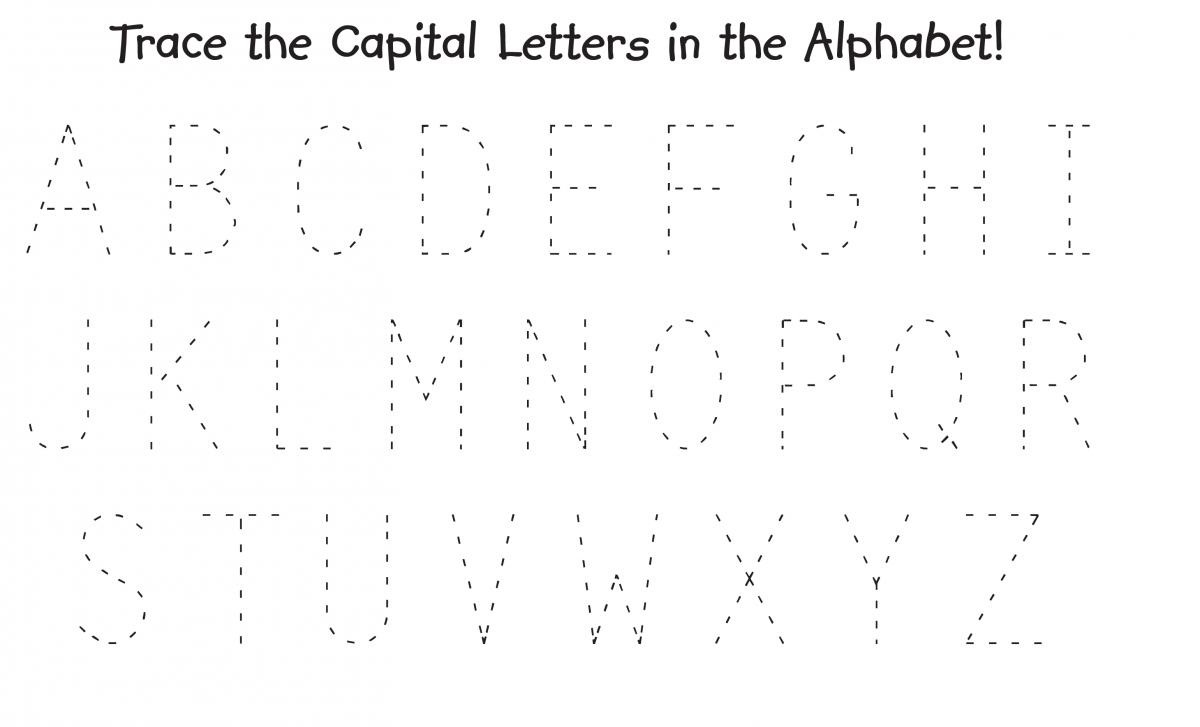 trace alphabet letters capital
