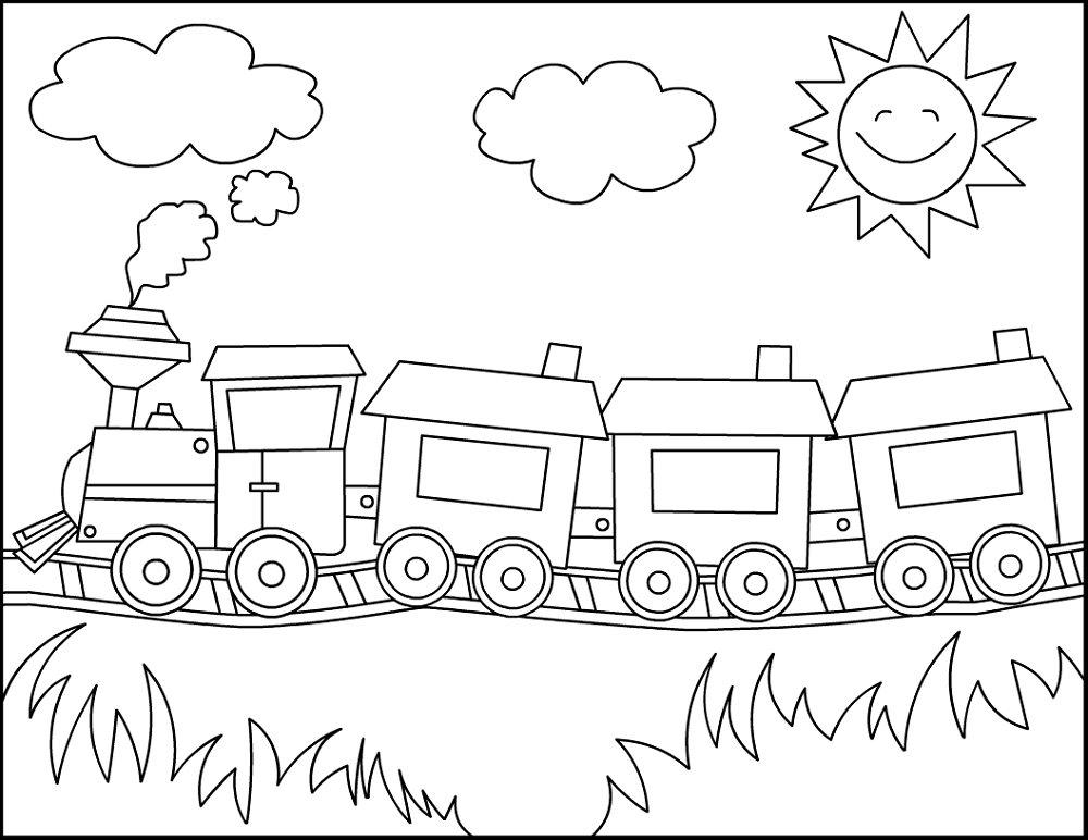 train kids for coloring