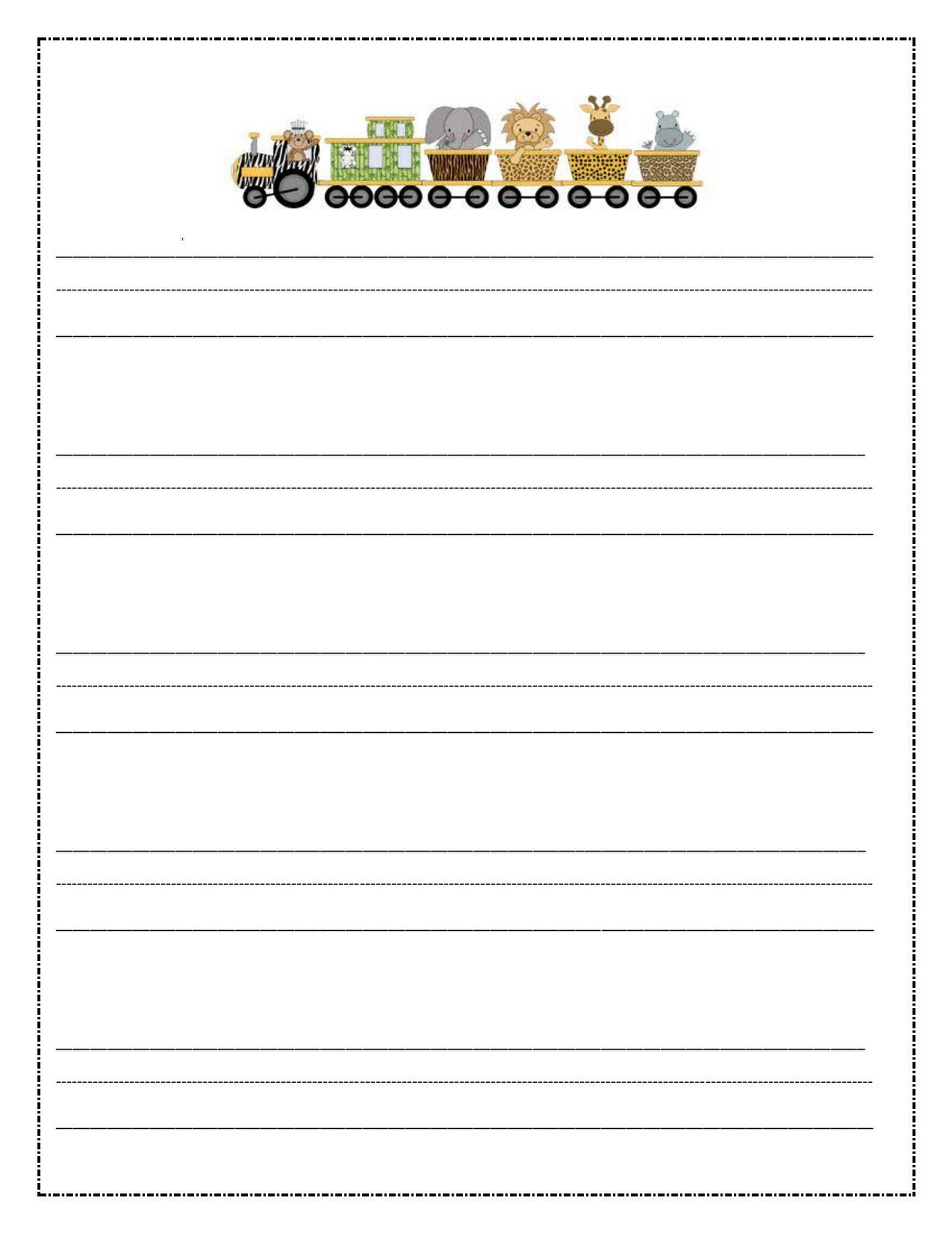 writing paper printable for kids