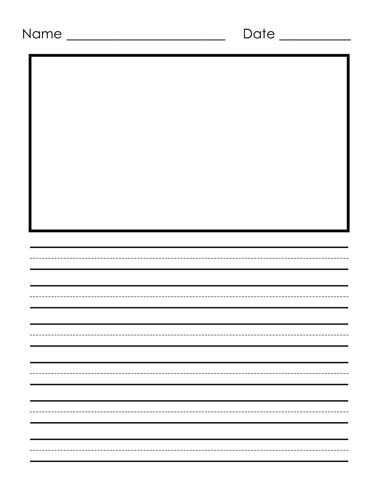 Free handwriting practice for first grade 1st grade for Writing templates for 3rd grade