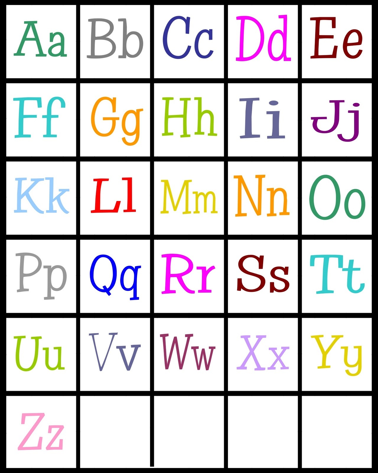 photograph regarding Colorful Alphabet Letters Printable known as ABC Printable for Kids Recreation Shelter