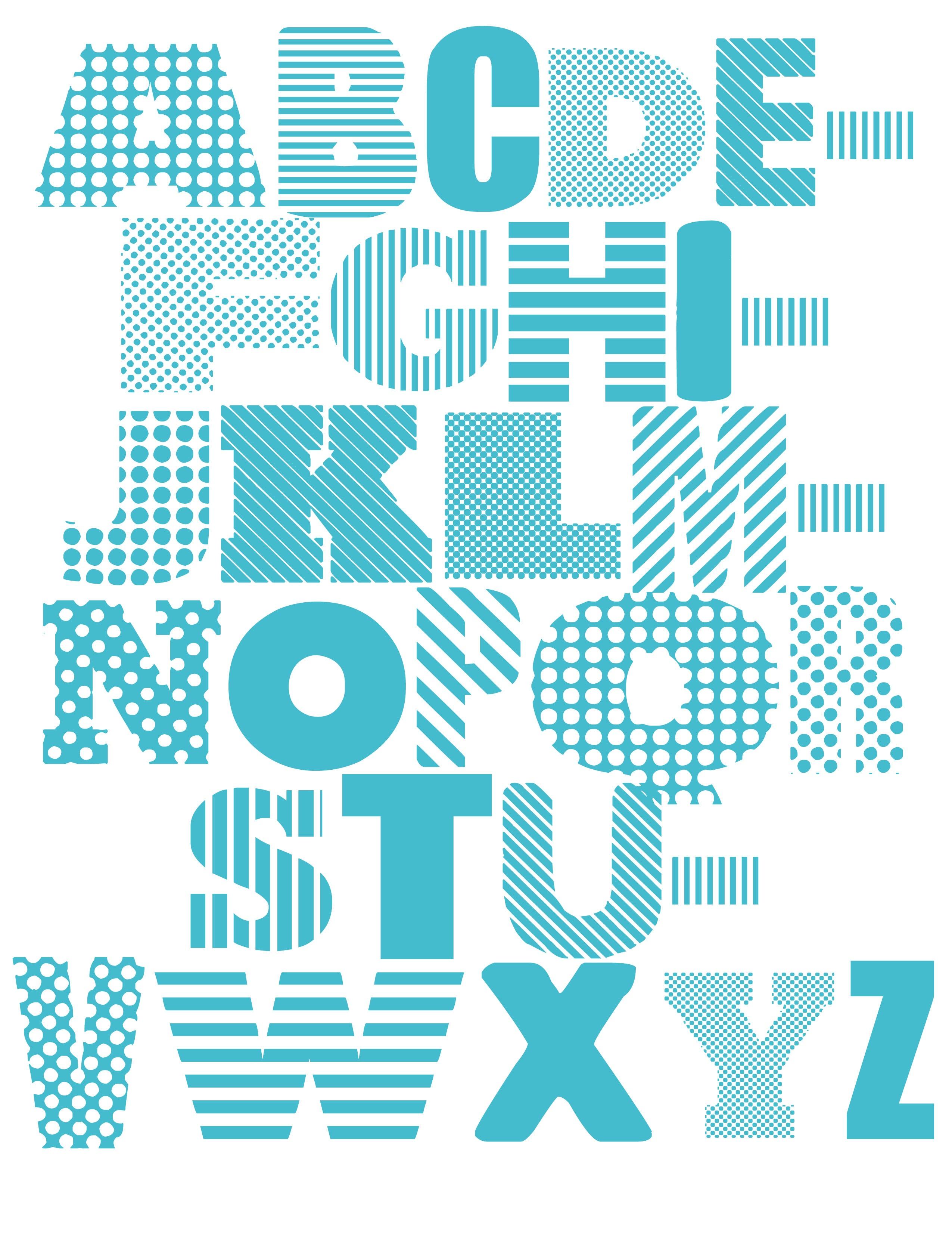 alphabet printables blue