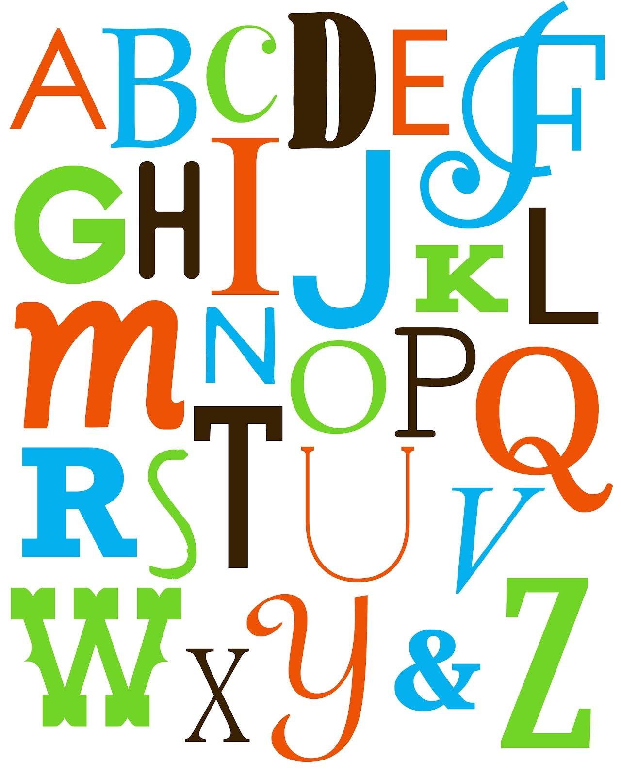 alphabet printables colorful