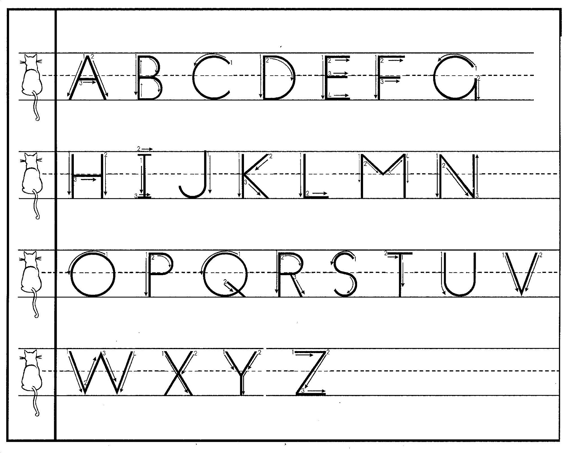 alphabet printables for school