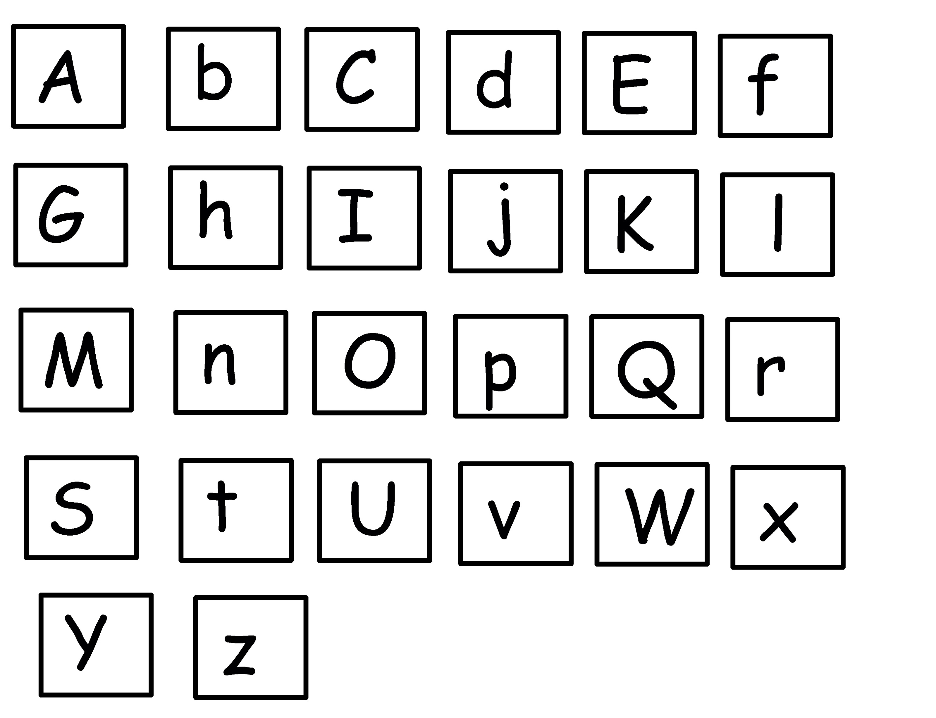alphabet printables simple