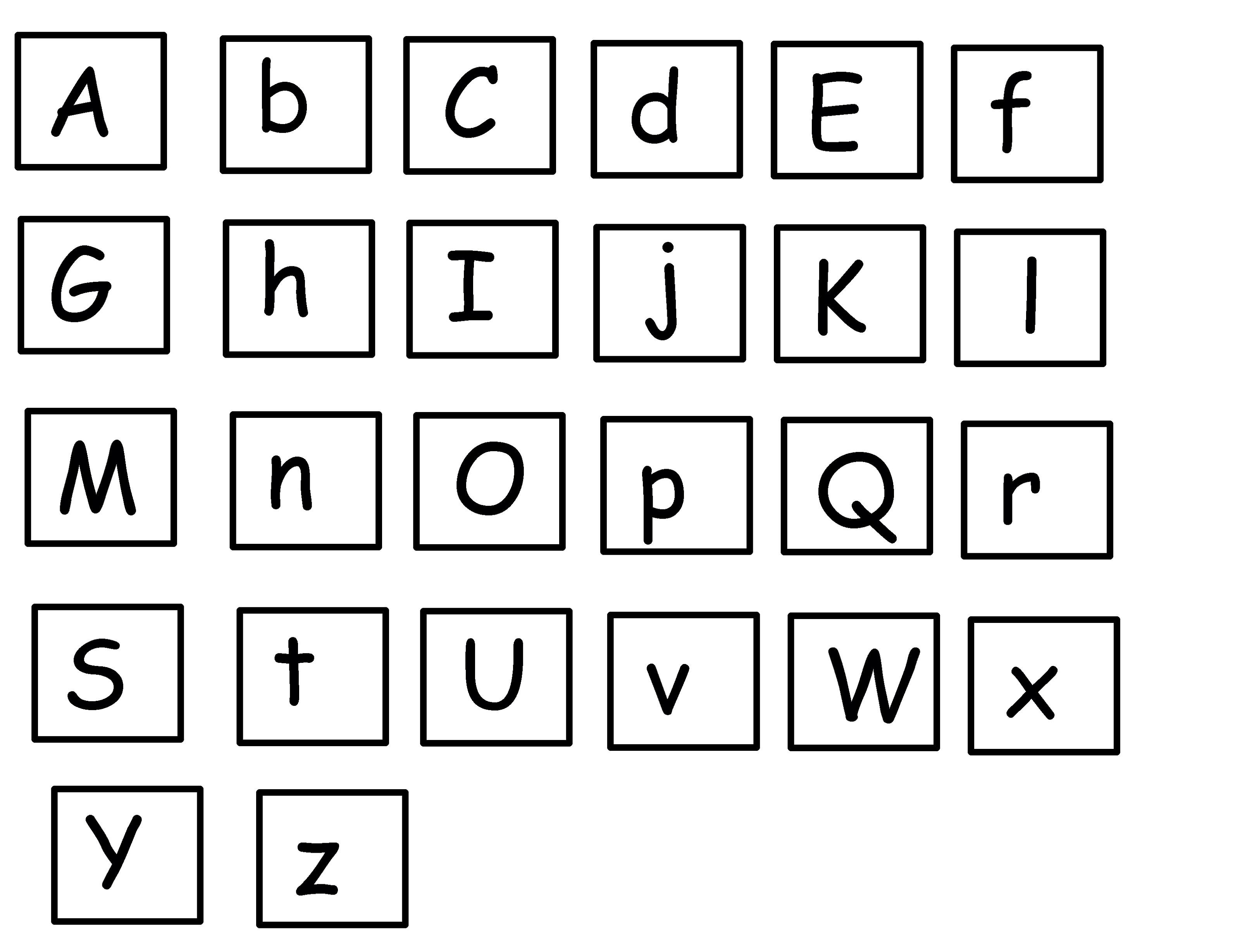 alphabet printables simple