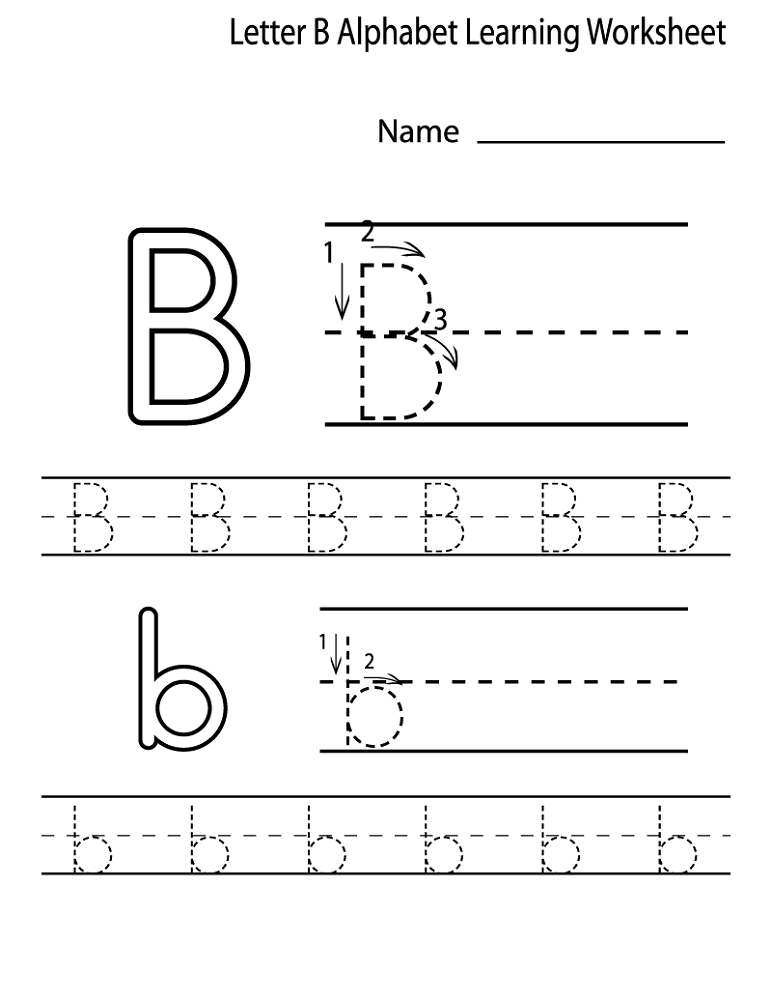 alphabet worksheets for preschoolers letter B