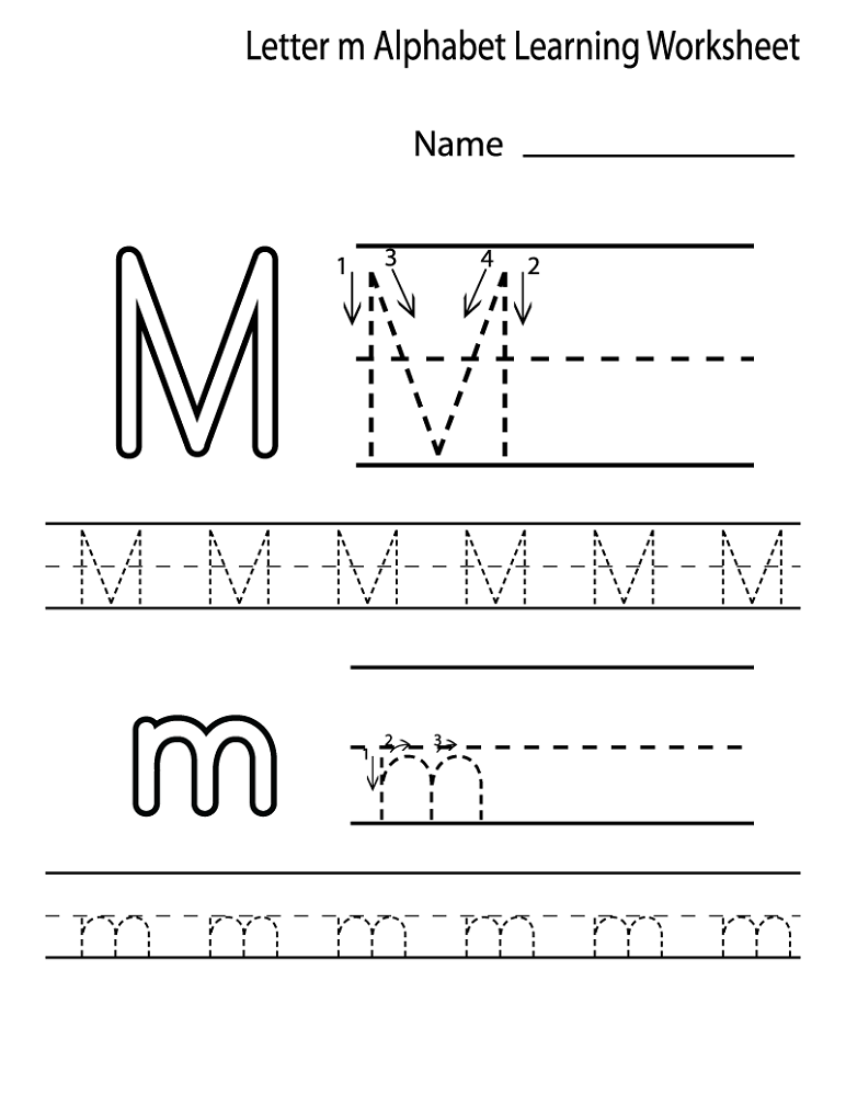 alphabet worksheets for preschoolers letter M