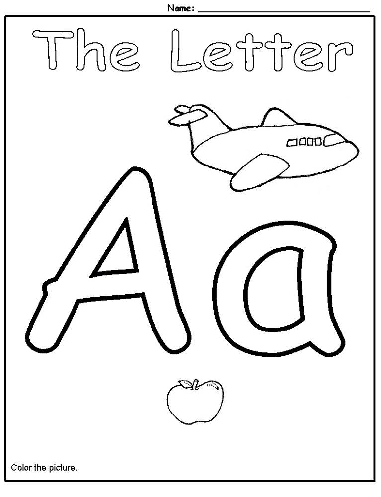 alphabet worksheets for preschoolers with picture