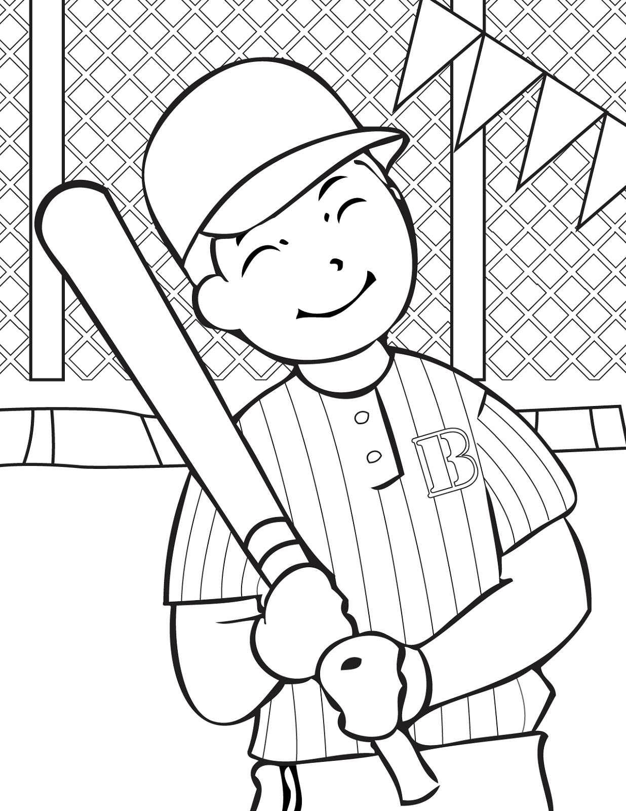 baseball coloring pages for kids - baseball color pages for children activity shelter