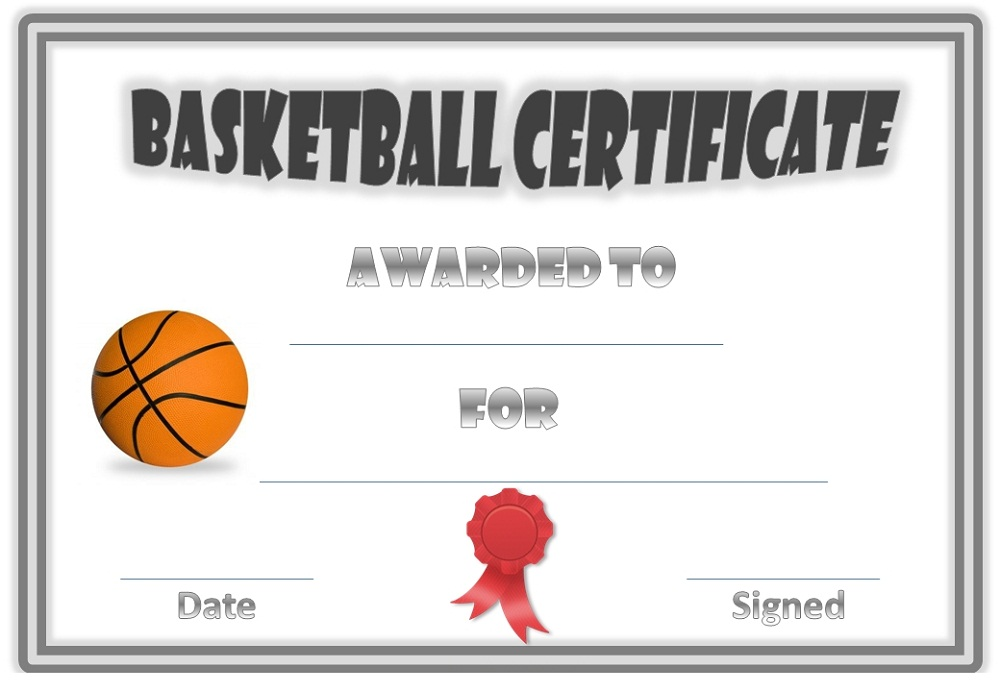 basketball award certificates best