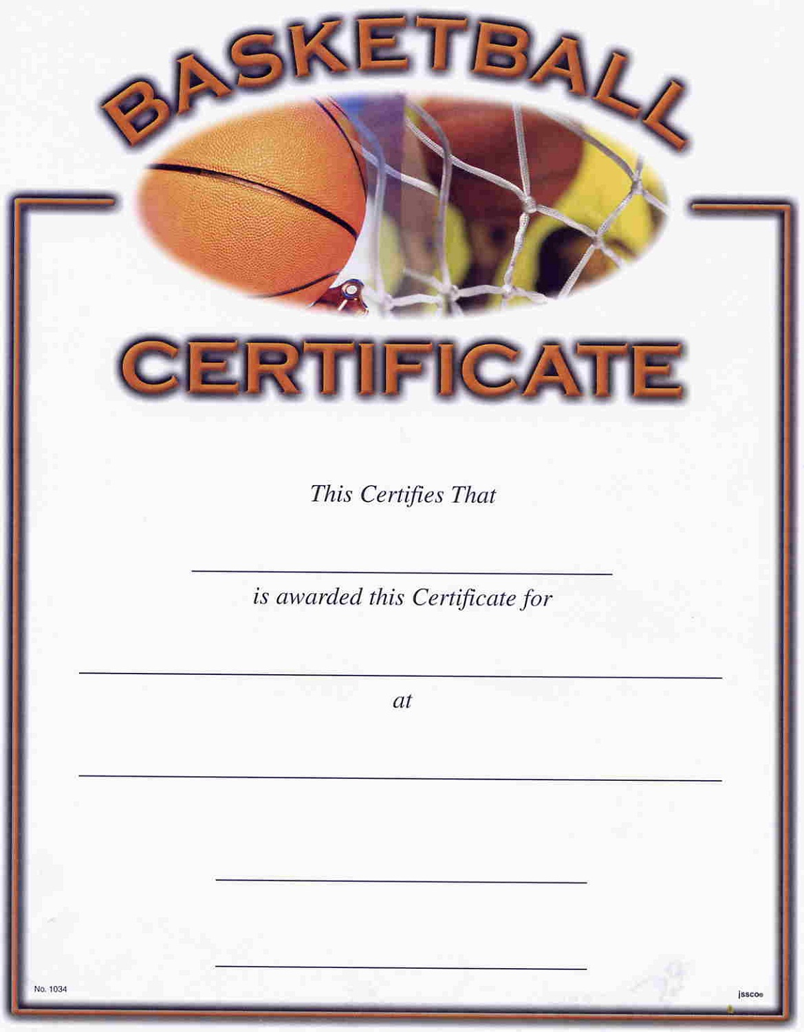 Basketball Award Certificates Free