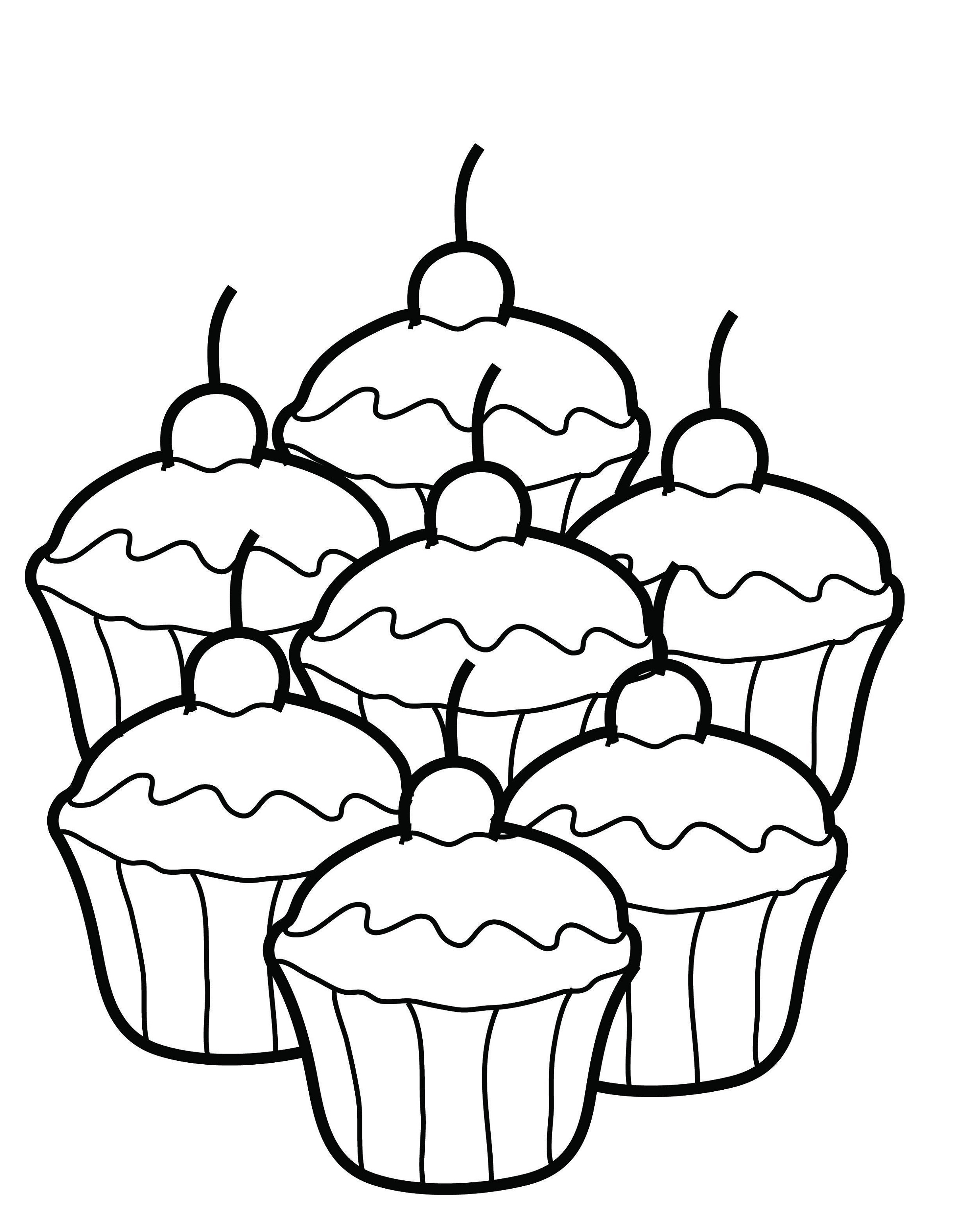 Coloring pages to print for children - Coloring Pages Printable Cupcakes
